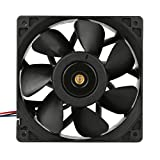 Amiley 2x 6000RPM Cooling Fan Replacement 4-pin Connector For Antminer Bitmain S7 S9 (Black)
