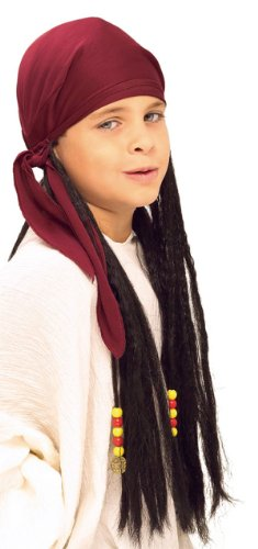 Dread Pirate Red (Child Pirate Head Scarf with Dreads)