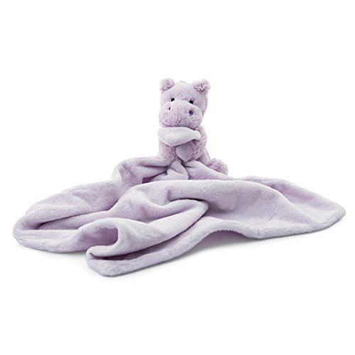 Jellycat Bashful Hippo Soother Security Blanket - Purple Hippo