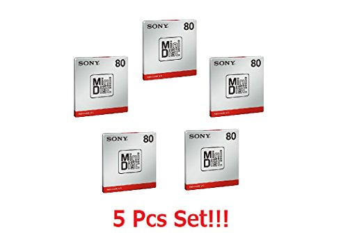 ([5 Pcs Set] Sony MD80 Blank Mini Disc 80 Minutes Recordable MD Japan Genuine)