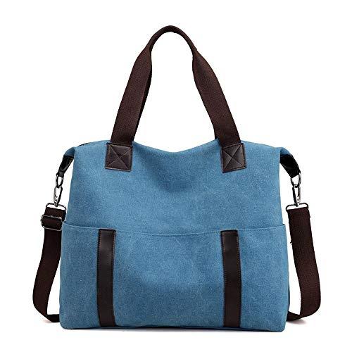 Main Pour Cabas Wwave Loisir À Mode Du Pack Dames Dame Sacs Cross Oblique Épaule Unique Blue Simple Toile tvtwBqE