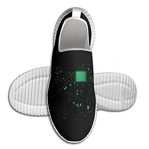 Computer CPU Core Heart Geek Running Sports Shoes Casual Shoes Man Breathing Lightweight Soft Sole Shoes
