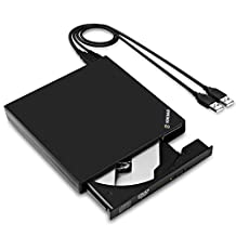 External DVD Writer, YOKKAO Universal USB 2.0 Slim DVD CD R/RW Drive Burner Writer for Laptop Netbook Notebook PC
