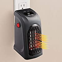 BLAPOXE Portable Heater, 400W Handy Heater Compact Plug-In Portable Digital Electric Heater Fan Wall-Outlet Handy Air Warmer Blower Adjustable Timer Digital Display for Home/Office/Camper.