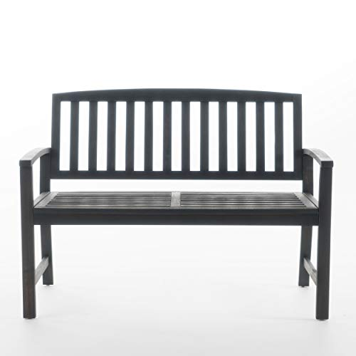 Great Deal Furniture Laguna Outdoor Patio Acacia Wood Bench (Dark Grey) ()