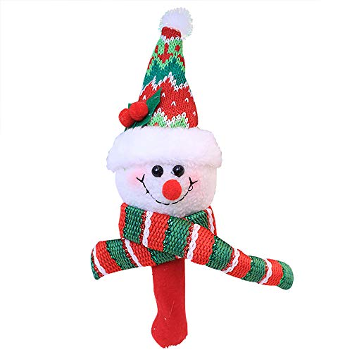 Alimao 2019 New Christmas Santa Claus Hand Bells Baby Soft Toys Developmental Rattle Bed Kids