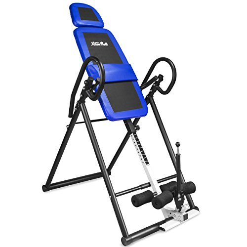 XtremepowerUS Gravity Inversion Therapy Table Back Pain Relief Adjustable-PU Leather