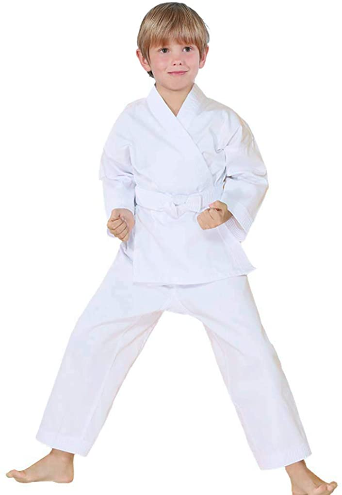 Taekwondo Martial Arts Suit Uniform Karate Taekwon Costume Set for Kids /& Adults