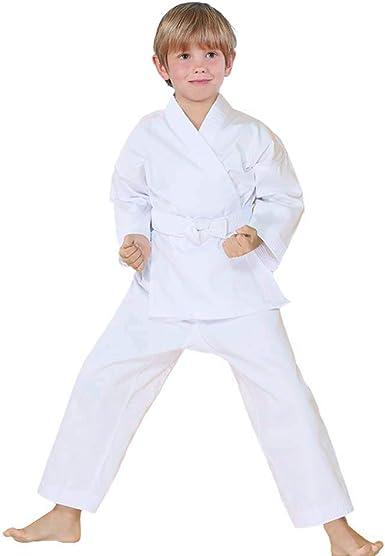NEW Proforce Lightweight Karate Uniform Gi WHITE with White Belt ADULT or CHILD