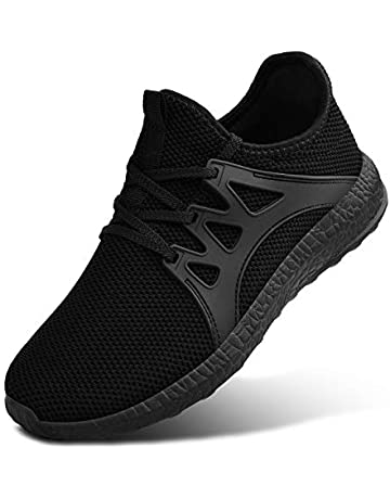 f02be0d458024f MARSVOVO Womens Sneakers Ultra Lightweight Breathable Mesh Walking Gym  Tennis Athletic Running Shoes Black Size 6