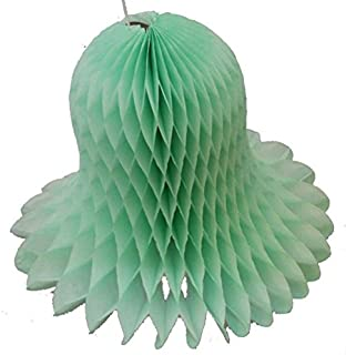product image for 3-Pack 15 Inch Honeycomb Tissue Paper Wedding Bell Party Decoration (Mint)