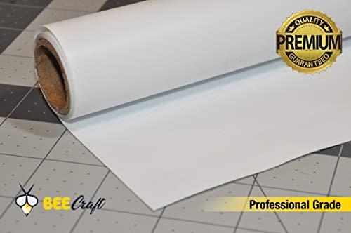 (BEECRAFT Heat Transfer Vinyl Roll (White) | 100% Ultra Matte PU | 15.7