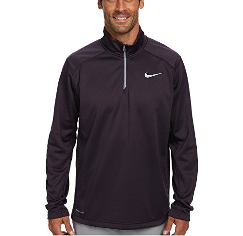 Nike Men's KO Quarter Zip Therma-Fit Long Sleeve Shirt Black, XL