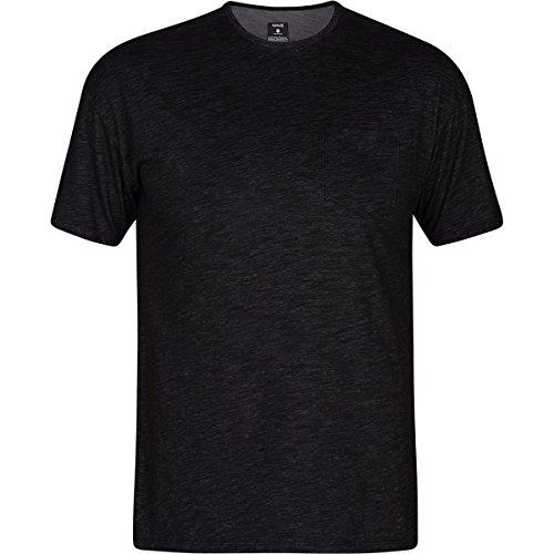 (Hurley Men's Dri-Fit Lagos Port Short Sleeve Black Medium)
