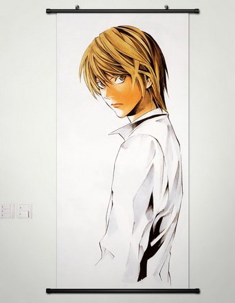 Wall Scroll Poster Fabric Painting For Anime Death Note Yagami Light 048b