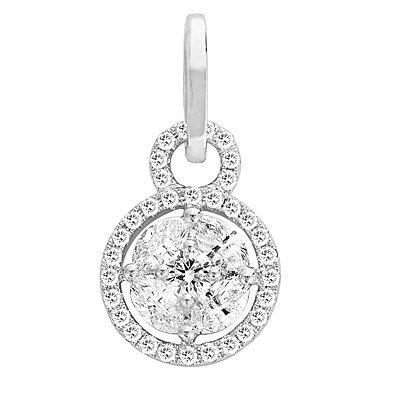 Pendentif diamant or blanc 14carats