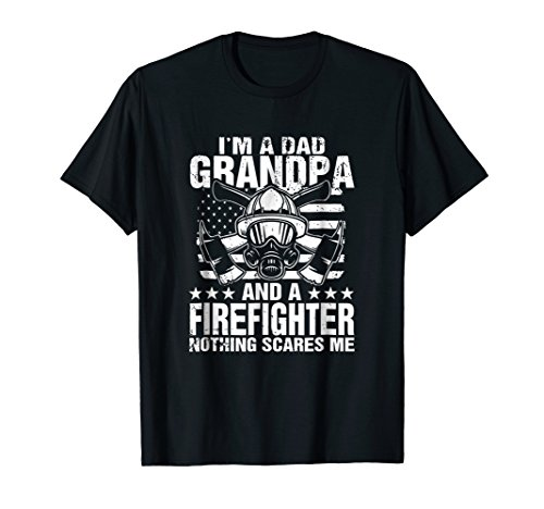 (Mens I'm A Dad Grandpa T-Shirt Firefighter Father's Day Gift)