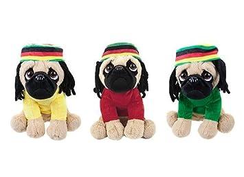 c2247d4616b Pugs and Kisses 10 Inch Rasta-Pug Plush Soft Toy  Amazon.co.uk  Toys ...