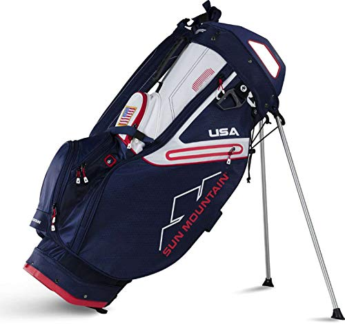 Sun Mountain 02SM262 NVRD 2019 C-130S Stand Bag Navy/Red, Navy|Red, Large