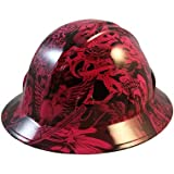 Texas America Safety Company Tattoo Full Brim Style Hydro Dipped Hard Hat - Hot Pink