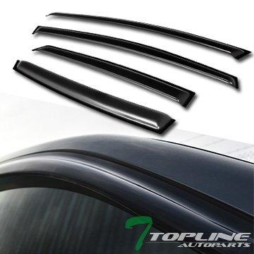 (Topline Autopart Smoke Window Visors Deflector Vent Shade Guard 4 Pieces For 12-17 Ford Focus 4 Door Sedan/Hatchback)