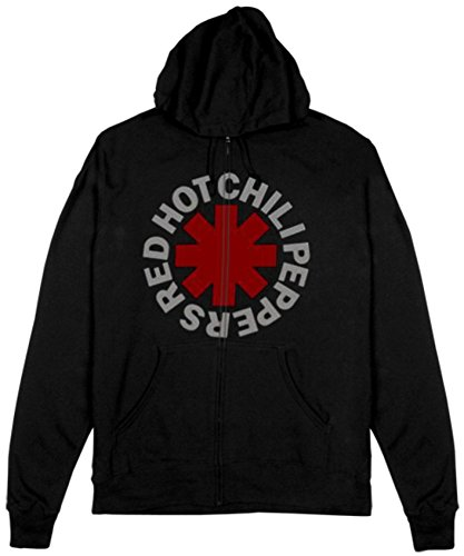 Red Hot Chili Peppers Asterik Zip Mens Hoodie, Size: Small, Color: Black (Red Hot Chili Peppers Hats)