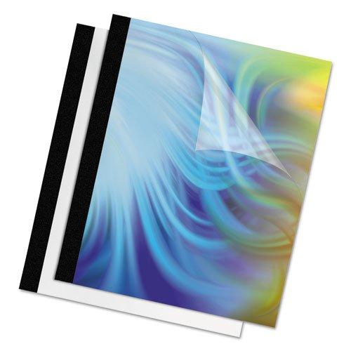 Fellowes製品 – Fellowes – Thermalバインドシステムカバー、60シート、11 – 1 / 8 x 9 – 3 / 4、クリア/ブラック、10 /パック – 1パックとして販売 – クリア前面カバーハイライトタイトルページ。 – エレガントなバックカバーで光沢ホワイトまたはlinen-texturedブラック。 – ほとんどの熱バインドシステムと互換性。   B004E2MRP6