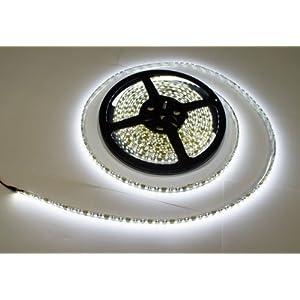 LEDテープ 黒ベース 5m 600連SMD 正面発光 12V 防水 ホワイト