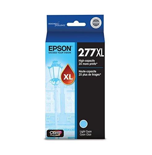 Epson T277XL520 Claria Photo Hi-Definition Light Cyan High Capacity Cartridge Ink