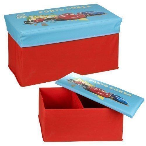 Disney, Pixar, Cars, Lightning Mcqueen Ottoman Kids Storage Bench Chest Lid ()
