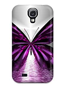 Awesome Butterfly Flip Case With Fashion Design For Galaxy S4