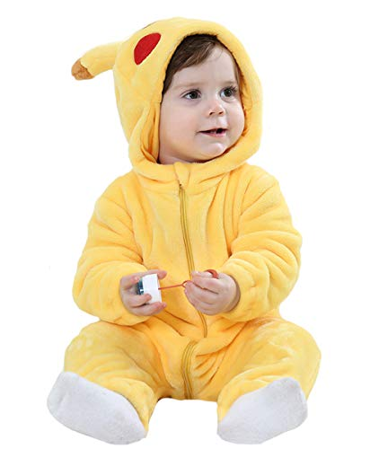 "Tonwhar Toddler Infant Tiger Dinosaur Animal Fancy Dress Costume (110 (Height:35""-39""/Ages 24-30 Months), Yellow)"