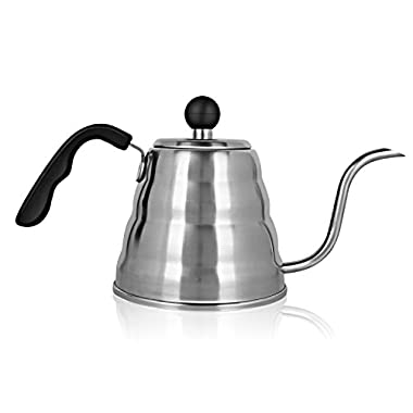 Decen Pour Over Coffee and Tea Gooseneck Kettle, Stainless Steel Stovetop - 1.2 L