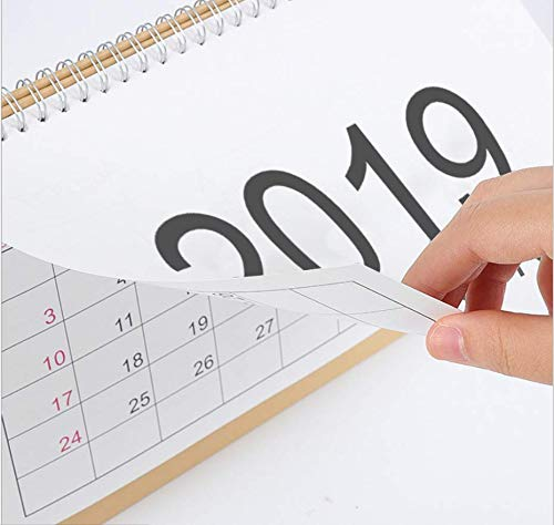 2018 Monthly Desk Pad Calendar with Stand, Twin-Wire Binding,Monthly Planners For Office,School,Family