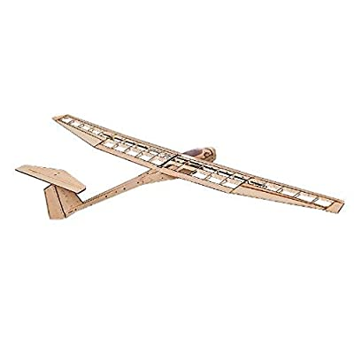 RC Airplane Balsawood Plane Model Glider Electric Power Griffin 1550mm Wingspan Laser Cut Balsa Wood Airplane Model Building kit + Power System+ Covering