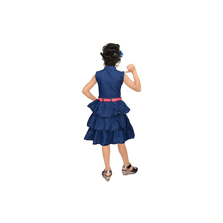 41X2Jw ACUL. SS768  - 4 YOU Girls' Knee Length Dress.
