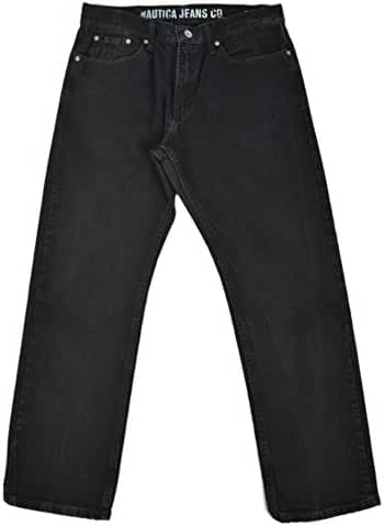 Nautica Jeans Mens Relaxed Fit Straight Leg Jeans True Black Wash 32W x 30L