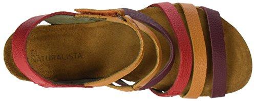 Naturalista de Grosella Multicolor 5030 Sandalias El Mujer Mixed tacón ZdqTStw