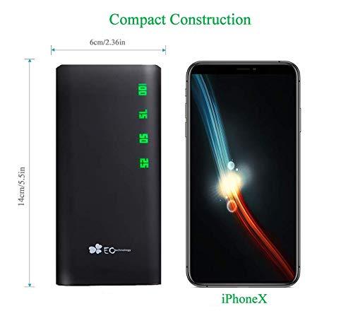 EC Technology 15000 Powerbank 15000mAh Externer Akku mit Dual 3.1A Ausgang und 2A Eingang Schnellladen mit große Kapazität portables ladegerät mit Auto IC für iPhone, iPad, Samsung Galaxy und mehr