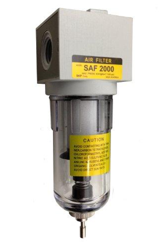 PneumaticPlus SAF2000M-N02B Miniature Compressed Air Particulate Filter 1/4