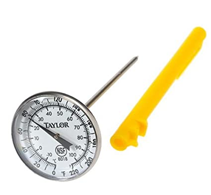 Taylor Precision Products Anti-Microbial Instant Read Thermometer (Extra Large Dial)