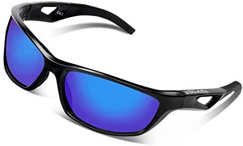 Tsafrer Unisex Polarized Sports Sunglasses, Sunglasses for Men and Women Cycling, Driving, Running Golf with Unbreakable Tr90 Frame
