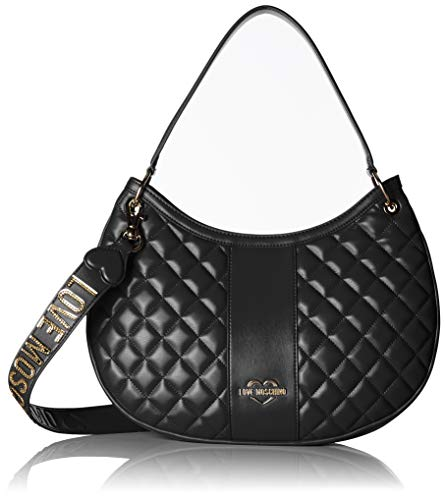 Nappa Noir Pu Love Quilted Moschino Borsa Nero Cartables qxzxw4ftC