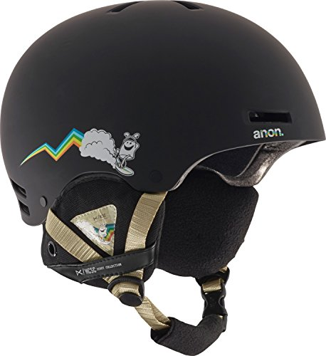 2012 Burton Mens Snowboard (Anon Men's Raider Helmet, HCSC, Large)
