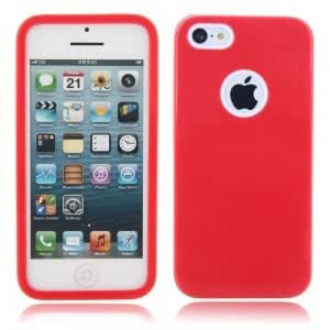 3-in-1 Elegant PC + TPU Protective Case for iPhone 5C Red