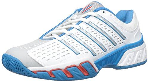 (K-Swiss Men's Bigshot 2.5 Performance Tennis Shoe, White/Methyl Blue/Fiery Red, 8.5 M US)