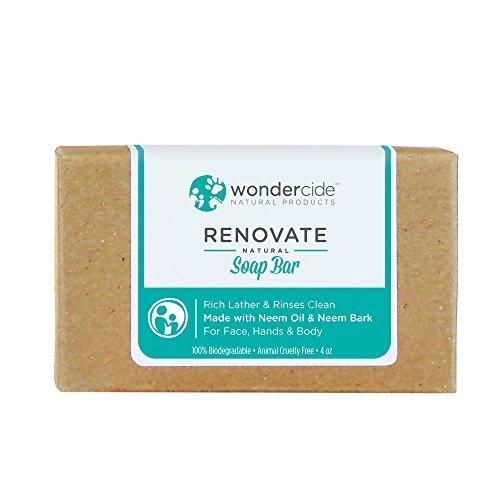 Wondercide Renovate Natural Soap Bar - Exfoliating - Neem Bark - 4.3 oz