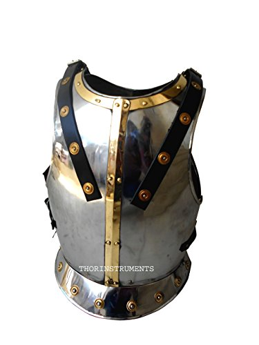 Thor Breastplate Costume (BREAST PLATE MEDIEVAL ARMOUR REPLICA COSTUME LARP CHROME FINISH)