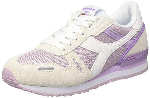 Diadora Titan Ii W, Sneaker Basses Femme Blanc Cassé (Bianco/viola Orchidea)