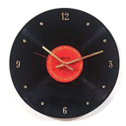 Record Clock - Bob Dylan. Handmade 12 wall clock made with an ORIGINAL VINTAGE Bob Dylan record.